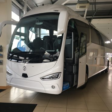 Irizar 2 white bus